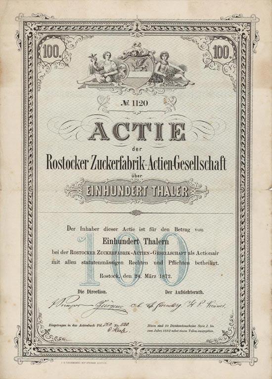 Rostocker Zuckerfabrik-Actien-Gesellschaft