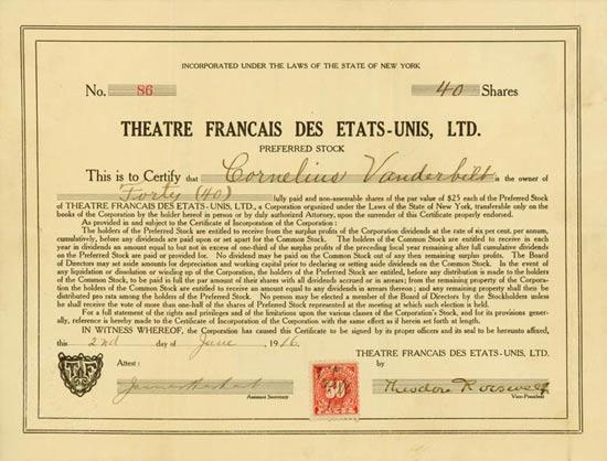 Theatre Francais des Etats-Unis, Ltd.
