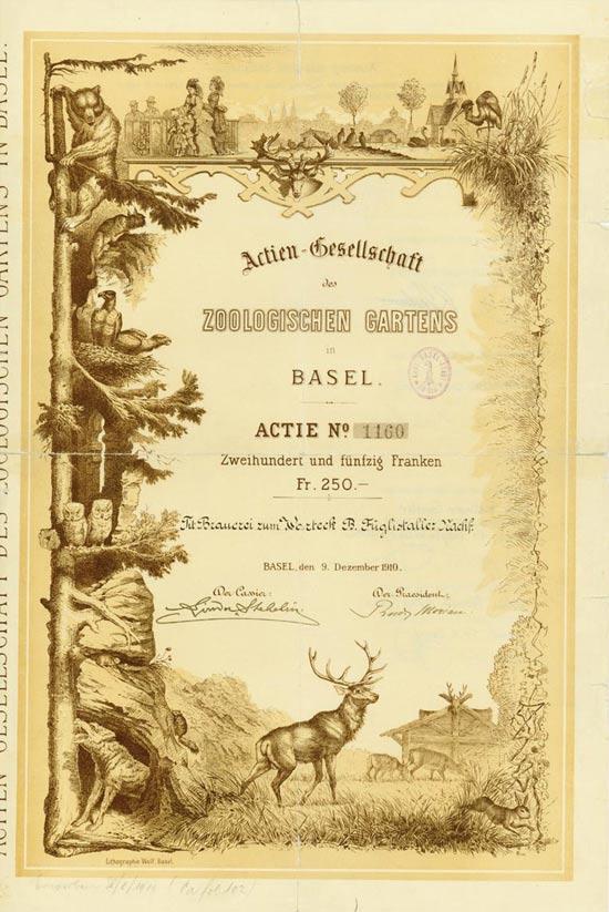 Actien-Gesellschaft des Zoologischen Gartens in Basel