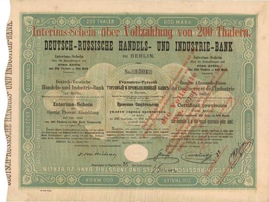 Deutsch-Russische Handels- und Industrie-Bank