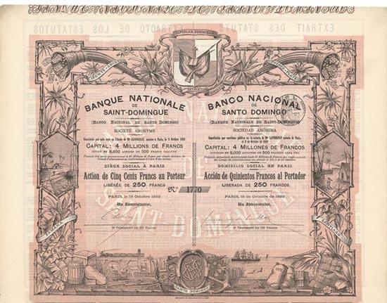 Banque Nationale de Saint-Domingue / Banco Nacional de Santo Domingo