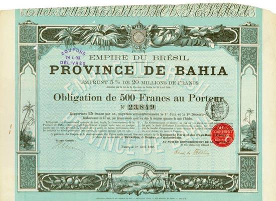 Empire du Brésil / Province de Bahia