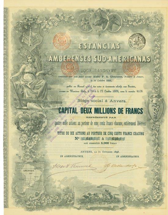 Estancias Amberenses Sud-Americanas Société Anonyme