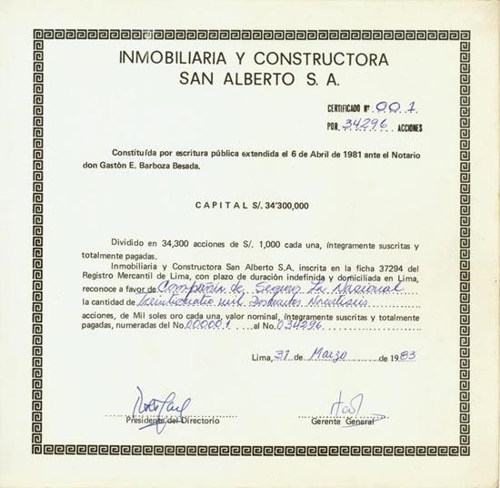 Immobiliaria y Constructora San Alberto S. A.