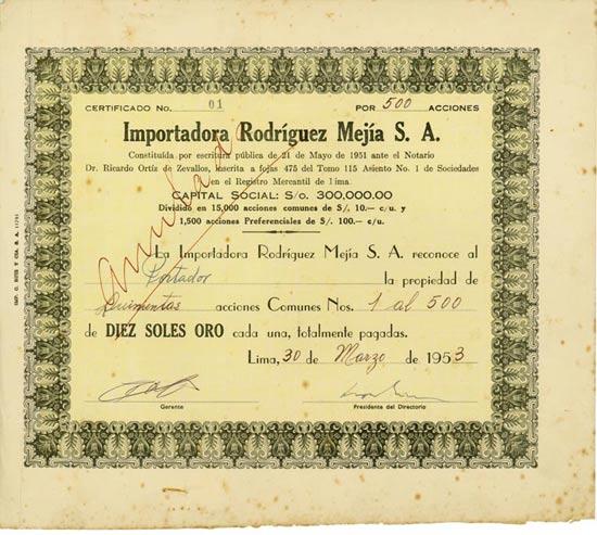 Importadora Rodriguez Mejia S. A.