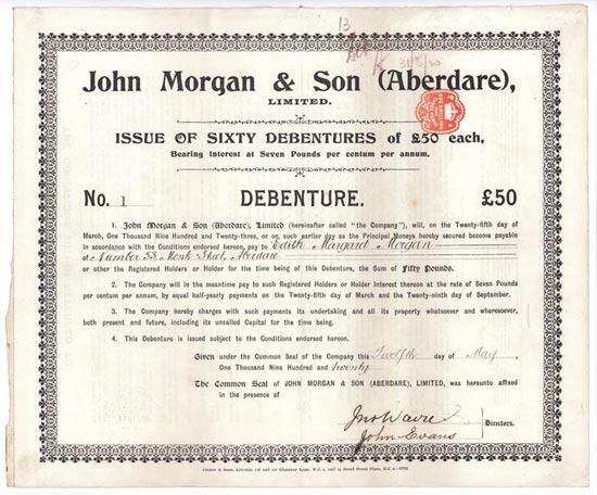 John Morgan & Son (Aberdare) Ltd.