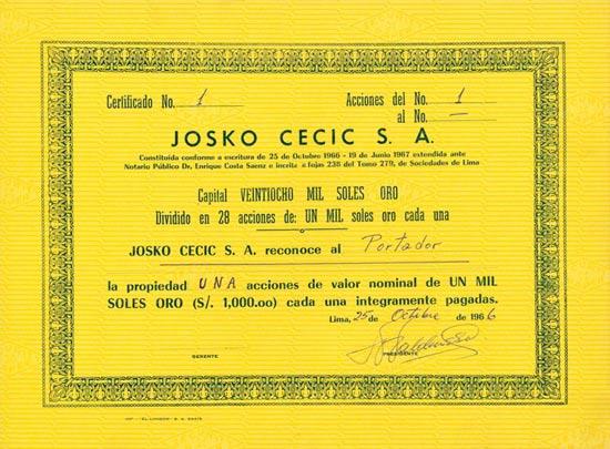 Josko Cecic S. A.