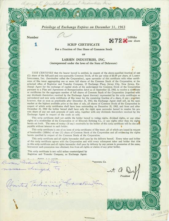 Larsen Industries, Inc.