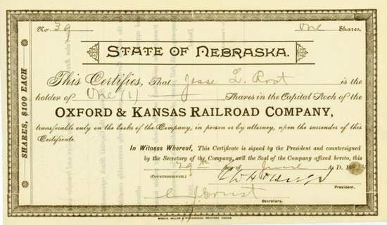 Oxford & Kansas Railroad Company