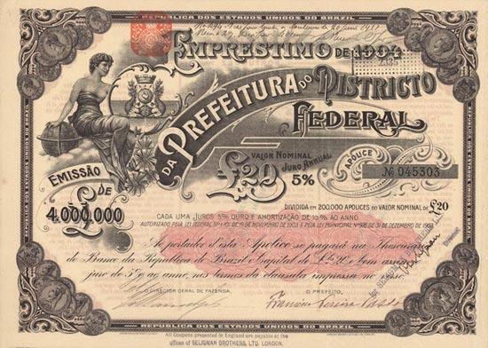 Republica dos Estados Unidos do Brazil - Prefeitura do Districto Federal