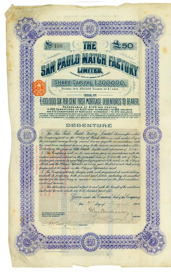 San Paulo Match Factory Limited