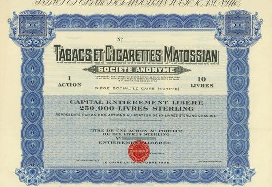 Tabacs et Cigarettes Matossian Société Anonyme