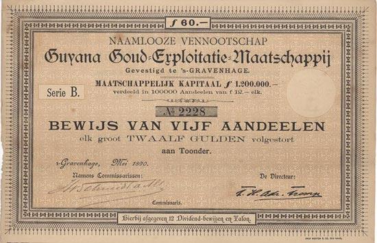 Naamlooze Vennootschap Guyana Goud-Exploitatie-Maatschappij