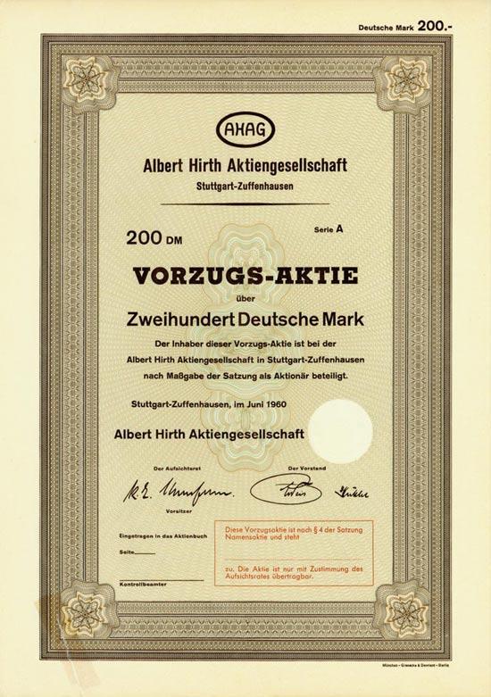 Albert Hirth AG