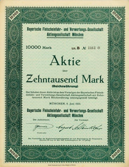 Bayerische Fleischeinfuhr- und Verwertungs-Gesellschaft AG