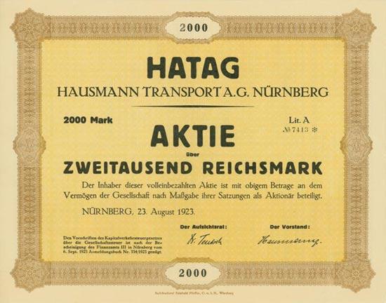 HATAG Hausmann Transport A.G. Nürnberg