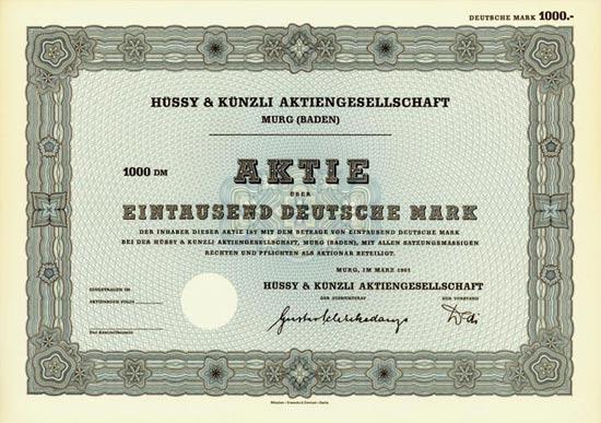 Hüssy & Künzli AG