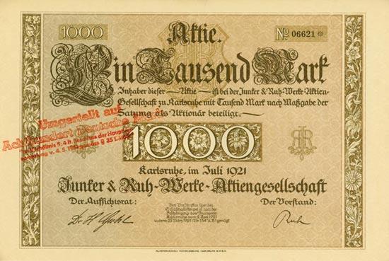 Junker & Ruh-Werke AG [Multiauktion 2]