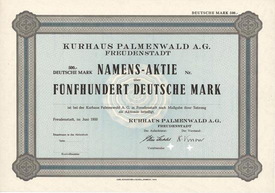 Kurhaus Palmenwald A.G.