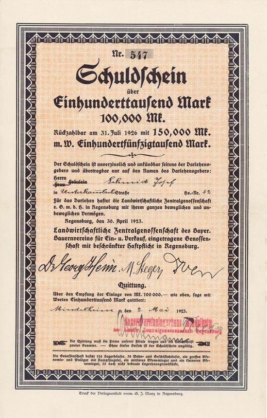 Landwirtschaftliche Zentralgenossenschaft des Bayer. Bauernvereins für Ein- u. Verkauf eGmbH
