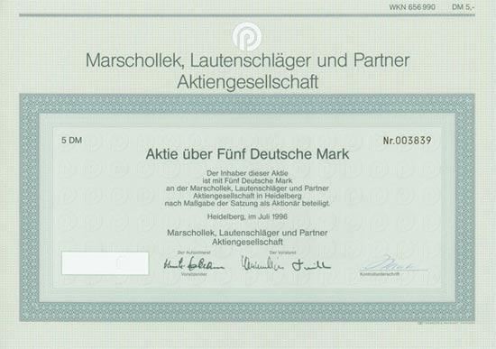 Marschollek, Lautenschläger und Partner AG (MLP)