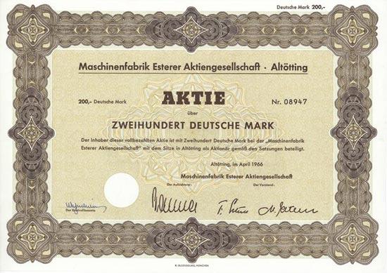 Maschinenfabrik Esterer AG