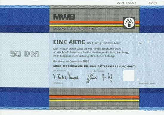 MWB Messwandler-Bau AG