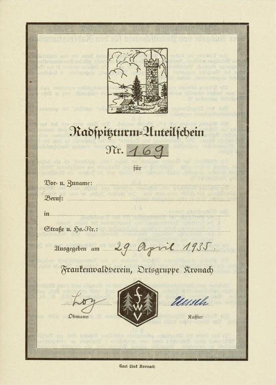 Radspitzturm - Frankenwaldverein