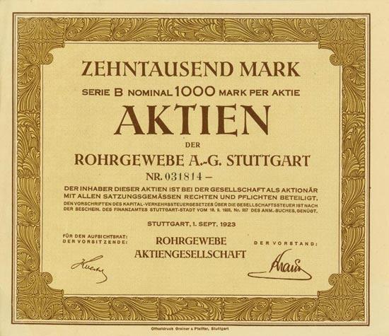 Rohrgewebe AG [Multiauktion 9]