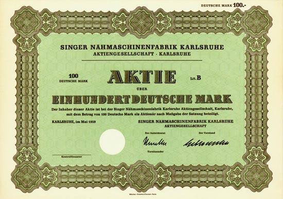 Singer Nähmaschinenfabrik Karlsruhe AG