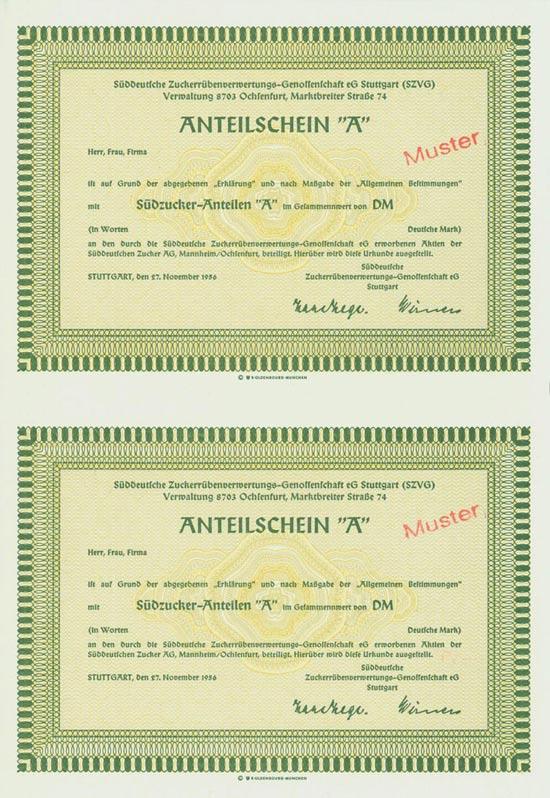 Süddeutsche Zuckerrübenverwertungs-Genossenschaft eG [2 Stück]