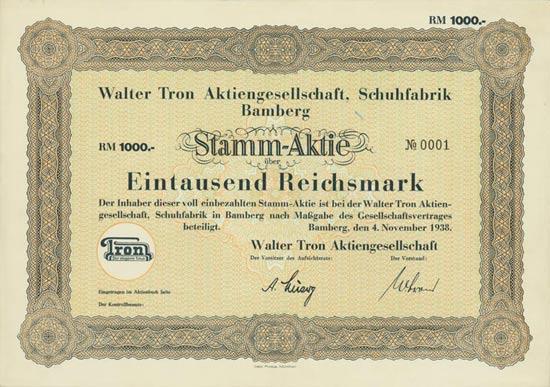 Walter Tron AG, Schuhfabrik