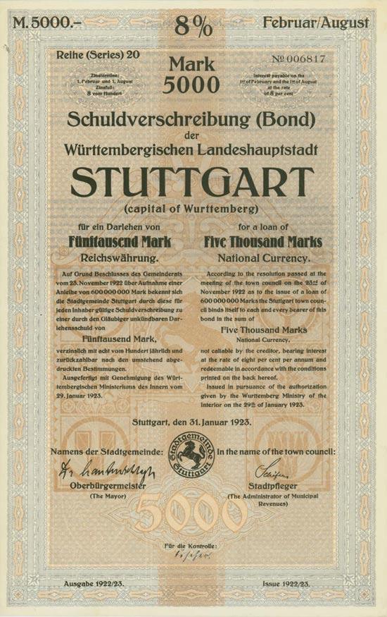 Württembergische Landeshauptstadt Stuttgart