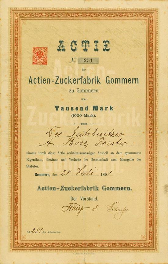 Actien-Zuckerfabrik Gommern