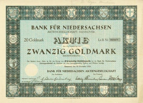 Bank für Niedersachsen AG