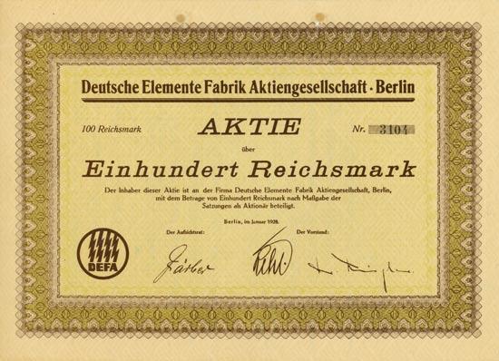 Deutsche Elemente Fabrik AG