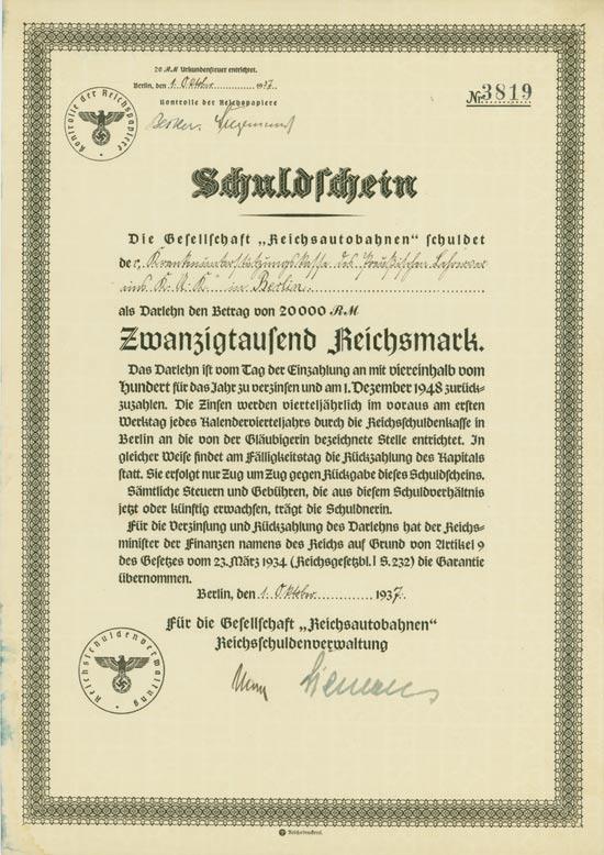 """Gesellschaft """"Reichsautobahnen"""""""