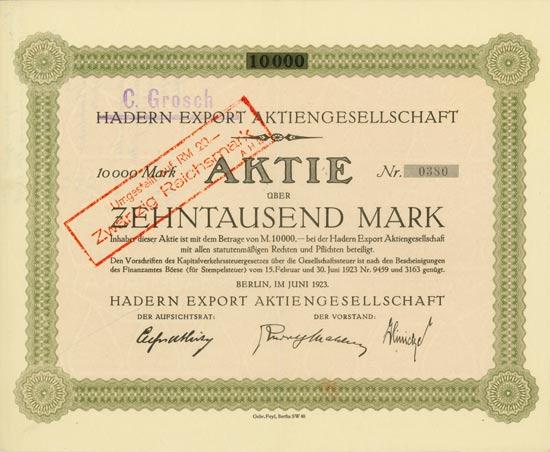 Hadern Export AG
