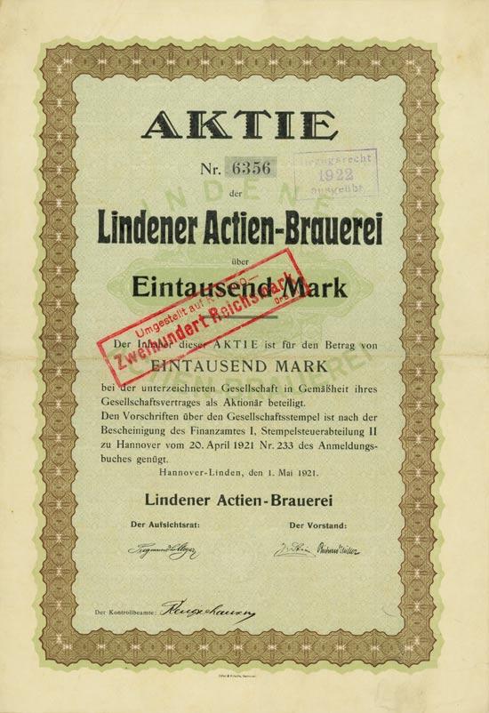 Lindener Aktien-Brauerei