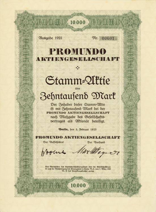 Promundo AG [Multiauktion 2]