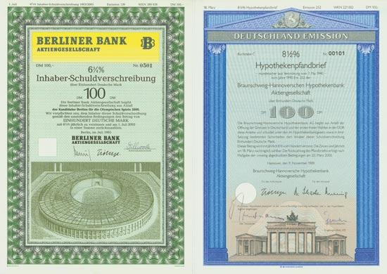 Bank-Schmuckanleihen [9 Stück]