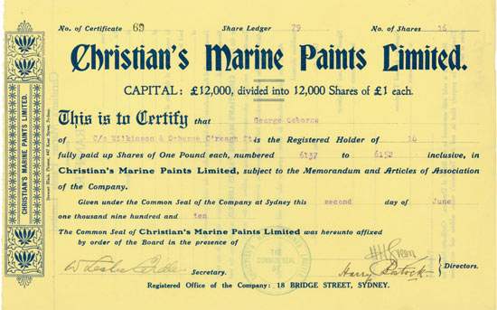 Christian's Marine Paints Limited