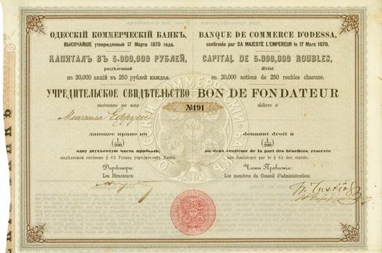 Banque de Commerce d'Odessa