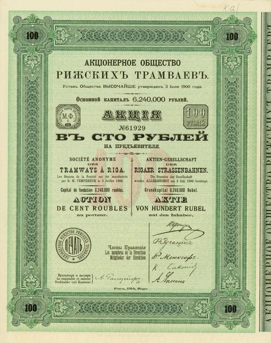Aktiengesellschaft der Rigaer Strassenbahnen
