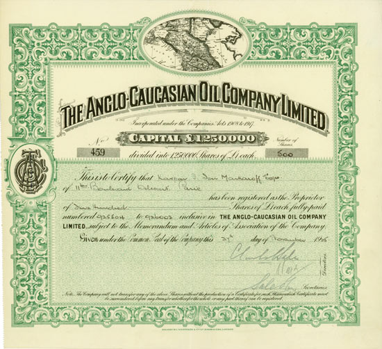Anglo-Caucasian Oil Company Limited
