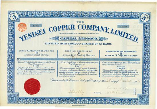 Yenisei Copper Company, Limited