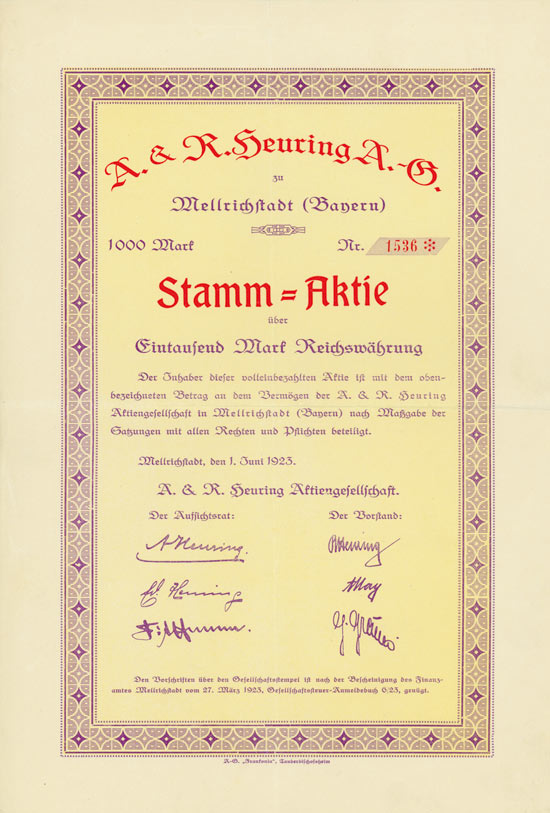 A. & R. Heuring AG