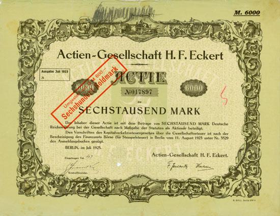 Actien-Gesellschaft H. F. Eckert