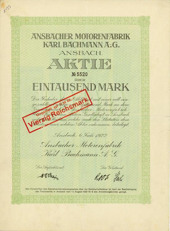 Ansbacher Motorenfabrik Karl Bachmann A.G.
