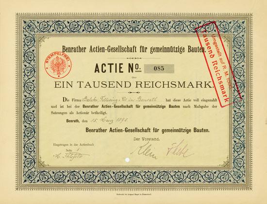 Benrather Actien-Gesellschaft für gemeinnützige Bauten